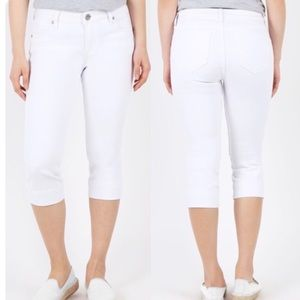 Kut From The Kloth | White Cropped Capri Jeans